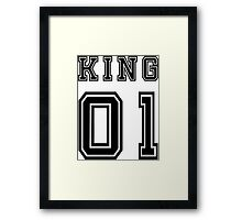 Vintage College Football Jersey Joking Design - King   Framed Print