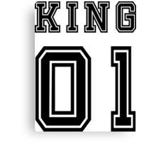 Vintage College Football Jersey Joking Design - King   Canvas Print