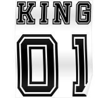 Vintage College Football Jersey Joking Design - King   Poster