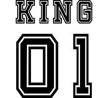 Vintage College Football Jersey Joking Design - King   Photographic Print