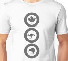 Australia Canada New Zealand (Low Vis) Unisex T-Shirt