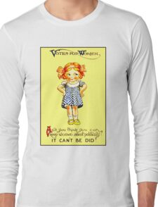 """WOMENS SUFFRAGE"" Vintage (1930s) Advertising Print Long Sleeve T-Shirt"