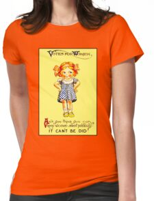 """WOMENS SUFFRAGE"" Vintage (1930s) Advertising Print Womens Fitted T-Shirt"