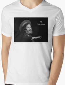 Stallman Think Different Mens V-Neck T-Shirt
