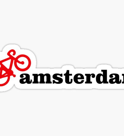 I Love Amsterdam - Red Bike Sticker
