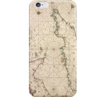 Vintage Map of The English Channel (1672) iPhone Case/Skin