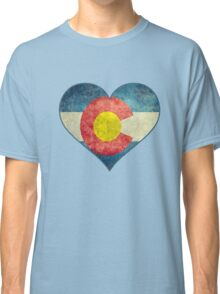 Heart Colorado American flag retro style best funny t-shirt Classic T-Shirt