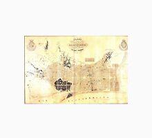 Vintage Map of Barcelona Spain (1859) Unisex T-Shirt