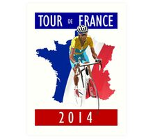 Le Tour 2014 Art Print