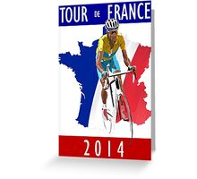 Le Tour 2014 Greeting Card