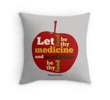 APPLE  | Let Food be thy Medicine  Throw Pillow