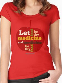 APPLE   Let Food be thy Medicine  Women's Fitted Scoop T-Shirt