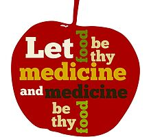 APPLE   Let Food be thy Medicine  by piedaydesigns