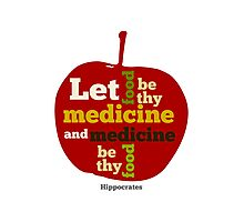 APPLE  | Let Food be thy Medicine  Photographic Print
