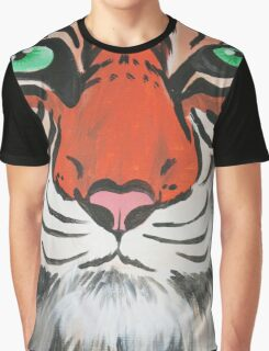 Majestic Tiger Closeup Graphic T-Shirt