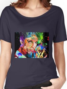 Colorful Portrait Grunge Women's Relaxed Fit T-Shirt