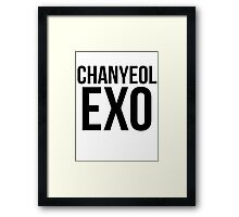 Chanyeol Jersey Framed Print
