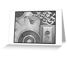 logic speed Greeting Card