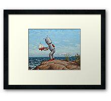 robot sailboat Framed Print