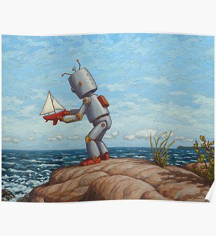 robot sailboat Poster