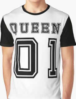 Sports Queen - Funny College Football Retro Design for Girls Graphic T-Shirt