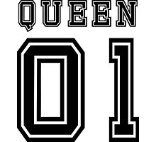 Sports Queen - Funny College Football Retro Design for Girls Photographic Print