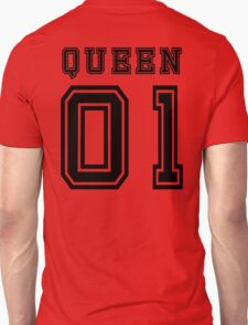 Sports Queen - Funny College Football Retro Design for Girls Unisex T-Shirt