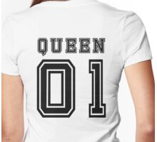 Sports Queen - Funny College Football Retro Design for Girls Womens Fitted T-Shirt