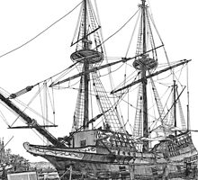Susan Constant, Jamestown Settlement, Virginia by Stephany Elsworth