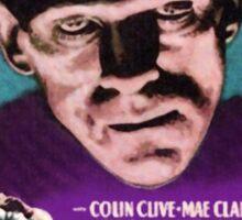 Frankenstein movie poster purple Sticker