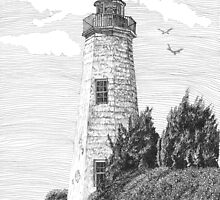Old Point Comfort Lighthouse by Stephany Elsworth