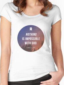 Luke 1:37 Women's Fitted Scoop T-Shirt