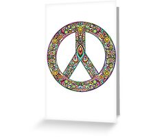 Pretty Peace Sign Greeting Card