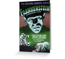 Frankenstein movie poster green Greeting Card