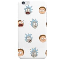 Rick and Morty Stickers iPhone Case/Skin