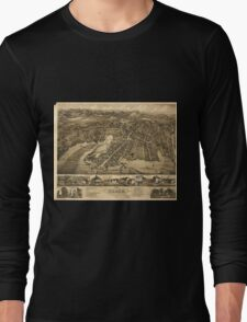 Vintage Pictorial Map of Essex Connecticut (1881) Long Sleeve T-Shirt