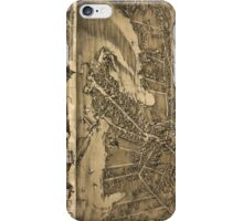 Vintage Pictorial Map of Essex Connecticut (1881) iPhone Case/Skin