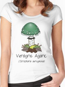 Verdigris Agaric (with smiley face) Women's Fitted Scoop T-Shirt