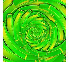green and yellow block swirl vortex Photographic Print