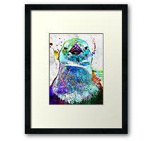 Penguin Grunge Framed Print