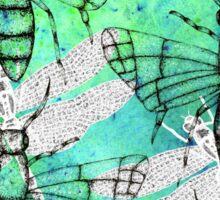Blue/green fly Sticker