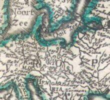 Vintage Map of Europe (1685) Sticker
