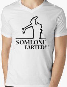 Funny Farting Cartoon Comic Humor Design  Mens V-Neck T-Shirt