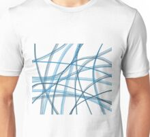 Blue linier Unisex T-Shirt