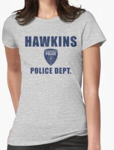 Hawkins Indiana Police Department Shield Womens Fitted T-Shirt