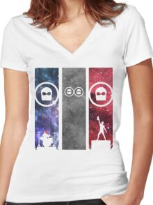 twenty one pilots band Women's Fitted V-Neck T-Shirt