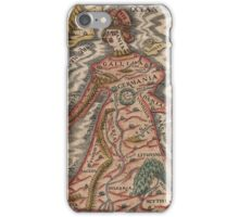 Vintage Map of Europe as a Queen (1570) iPhone Case/Skin