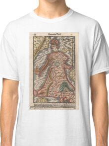 Vintage Map of Europe as a Queen (1570) Classic T-Shirt