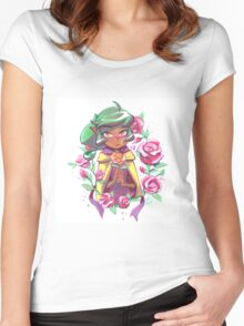 Harpy Gee, Gold Rose Women's Fitted Scoop T-Shirt