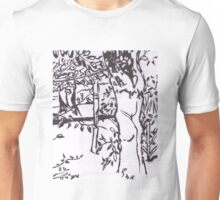 Three Trees in Graphic Style Unisex T-Shirt
